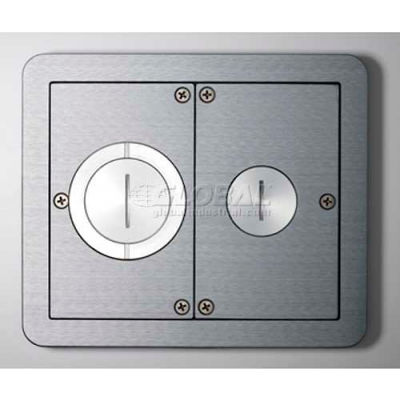 Wiremold FPFFTCAL Floor Box Floorport Flanged Furniture Feed Assembly, Brushed Aluminum