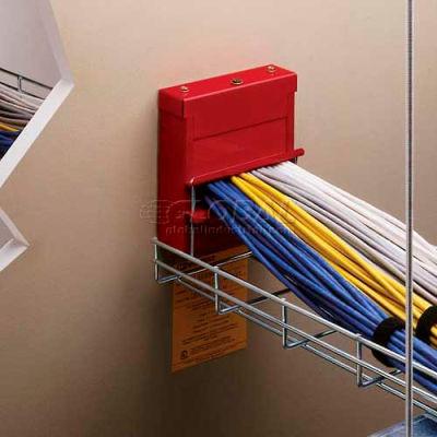 "Wiremold FS4R-RED Poke-Thru Flamestopper Thru-Wall Fitting. 4"" EMT Conduit, Red"