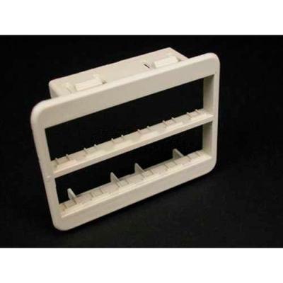 Wiremold Mab6tj Floor Box Ortronics Tracjack Mini Bezel, Ivory - Pkg Qty 25