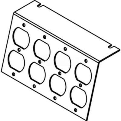 Wiremold P8105-4dp Floor Box Ac8105 Plate (4) Duplex Devices Kos - Pkg Qty 10
