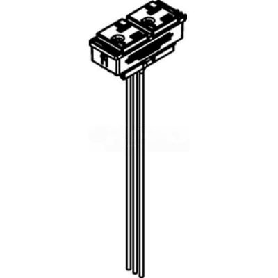 Wiremold RC37REC-25 Poke-Thru Replacement 20A Duplex Receptacle, Standard or IG-25' Leads