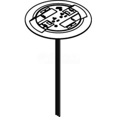 Wiremold RC3CTCAL Poke-Thru Flange & Slide Holder Asembly, Flush, Aluminum