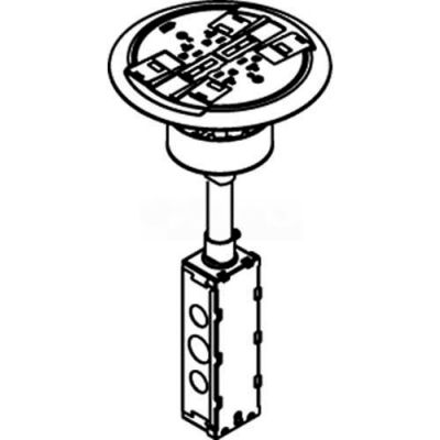 Wiremold RC4ATCAB Poke-Thru Flange & Slide Holder, Brass