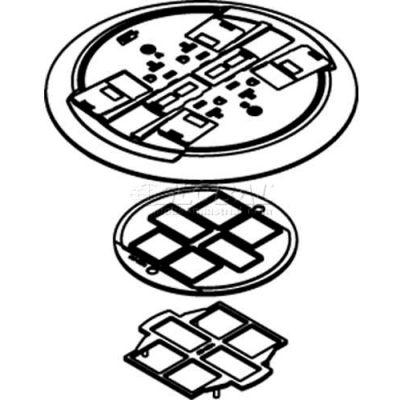 Wiremold RC4CTCAB Poke-Thru Flange & Non-Metallic Slide Holder Assembly, Brass