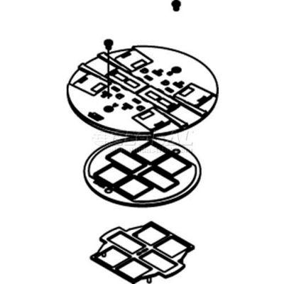 Wiremold RC4SHTCGY Poke-Thru Non-Metallic Slide Holder Assembly, Gray