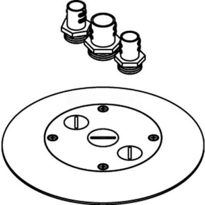 Wiremold RC7CFFTCBS Poke-Thru Flange/Cover Assembly, Brass