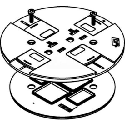 Wiremold RC7SHTCGY Poke-Thru Slide Holder Assembly, Gray