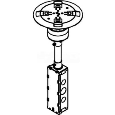 Wiremold RC9A15TCAB Poke-Thru Flange & Non-Metallic Slide Holder, Assembled Unit, Brass