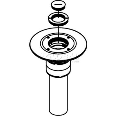 "Wiremold RC9AM2TCGY Poke-Thru Furniture Feed Unit, 1-1/4"" & 2"" Concentric Screw Plug, Gray"