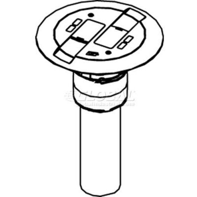 Wiremold RC9AMDTCGY Poke-Thru Flange & Slide Holder, Communication, Assembled Unit, Gray