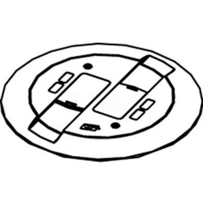 Wiremold RC9CMDTCBS Poke-Thru Flange & Black Slide Holder, Communication Cover Assembly, Brass