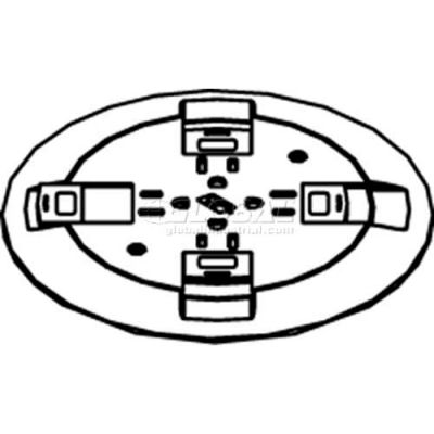 Wiremold RC9CTCAB Poke-Thru Flange & Non-Metallic Slide Holder Assembly, Brass