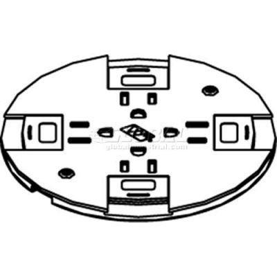 Wiremold RC9SHTCBK Poke-Thru Non-Metallic Slide Holder Assembly, Black