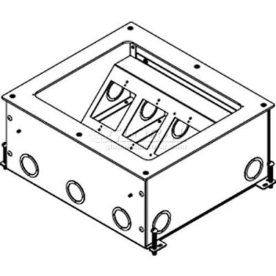 Wiremold RFB11 Floor Box 11-Gang Recessed Floor Box