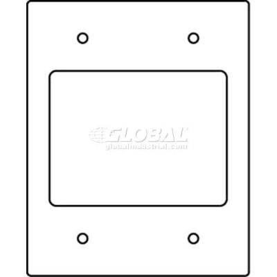 Wiremold Rfb119-2sab Floor Box 2-Gang With (2) 2a Size Bezels-Communication Device Plate - Pkg Qty 10
