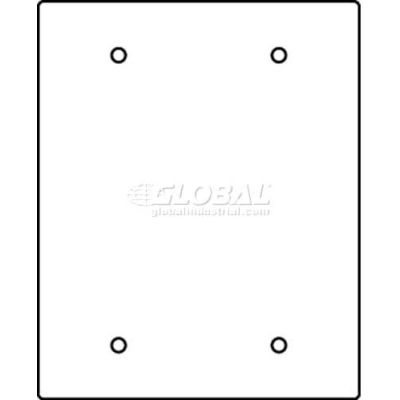 Wiremold Rfb119-2sb Floor Box 2-Gang Blank Sectional Device Plate - Pkg Qty 10