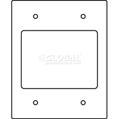 Wiremold Rfb119-2srt Floor Bx Comm Device Plate 2 Opening, (2) Ortronics Tracjack Bezels - Pkg Qty 10