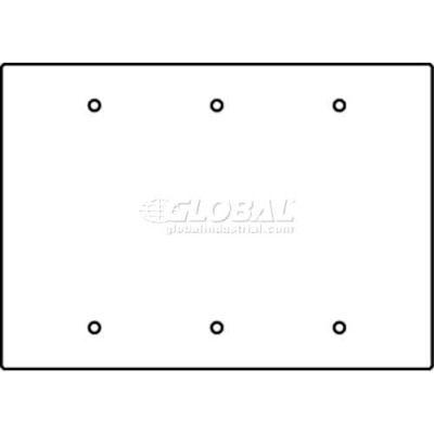 Wiremold Rfb119-3b Floor Box 3-Gang Blank Device Plate - Pkg Qty 10