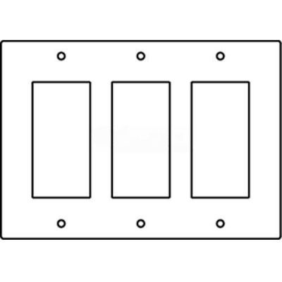 Wiremold Rfb119-3gfi Floor Box 3-Gang Gfi Receptacle Device Plate - Pkg Qty 10