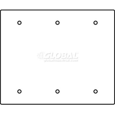 Wiremold Rfb119-3sb Floor Box 3-Gang Blank Sectional Device Plate - Pkg Qty 10