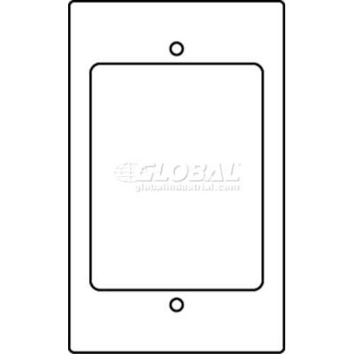 Wiremold Rfb119-Ab Floor Box 1-Gang With (1) 2a Size Bezel-Communication Device Plate - Pkg Qty 10
