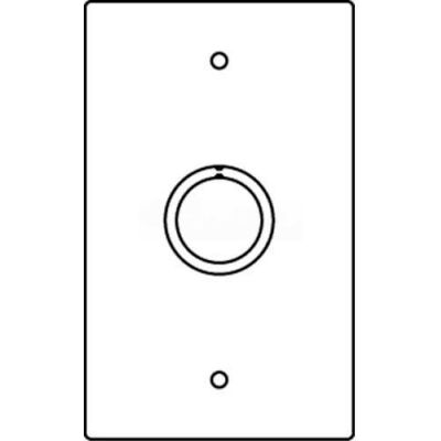 """Wiremold Rfb119-Ko Floor Box 1-Gng Combination Device Plate, 1/2"""" And 3/4"""" Trade Size K/O - Pkg Qty 10"""