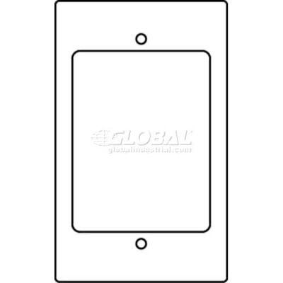 Wiremold-Rt 1-Gng, Sgl Open W/Ortronics Tracjack Bezel, Series Ii Bezel Device Plate - Pkg Qty 10