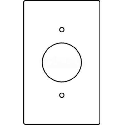 """Wiremold Rfb119-Sr1 Floor Box 1-Gang Single Receptacle Device Plate-1.39"""" Opening - Pkg Qty 10"""