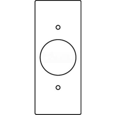 """Wiremold Rfb119-Ssr1 Floor Box 1-Gng Sgl Recpt. Sectional Device Plate-1.39"""" Opening - Pkg Qty 10"""