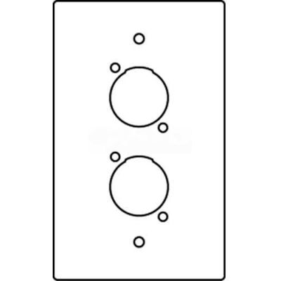 Wiremold Rfb119-Xlr Floor Box 1-Gang Microphone Device Plate - Pkg Qty 10