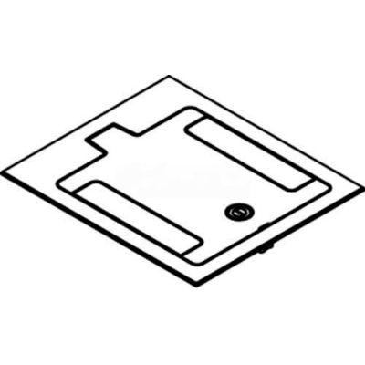 Wiremold RFB119BTCAL Floor Box Cover Assembly For Tile Or Carpet Covered Floors, Brushed Aluminum