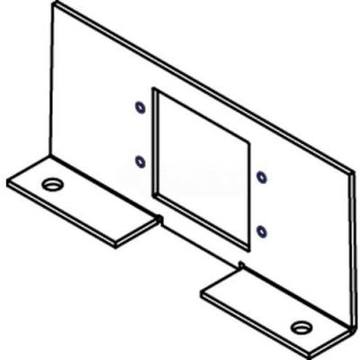 Wiremold RFB4-SS 4-Compartment Shallow Stamped Recessed Box W/Tunnel & 2 Recept. Brackets, Steel