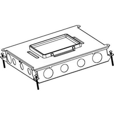 Wiremold RFB6-OG Floor Box 6-Gang Steel Recessed On Grade Floor Box