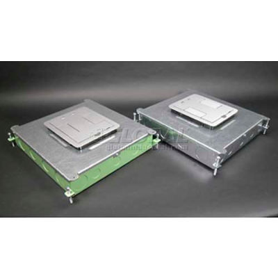 Wiremold RFB6 Floor Box 6-Gang Steel Recessed Floor Box