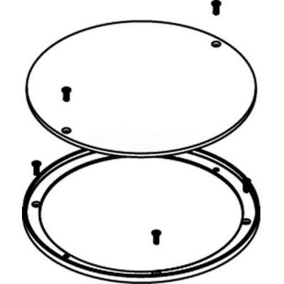 Wiremold RFB6E-CTR Floor Box 6-Gang Concrete Floor Box Terrazzo Ring