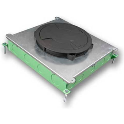 Wiremold RFB6E Floor Box 6-Gang Above Grade Concrete Floor Box for Evolution Cover