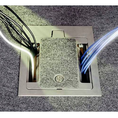 Wiremold RFB9 Floor Box 9-Gang Recessed Floor Box