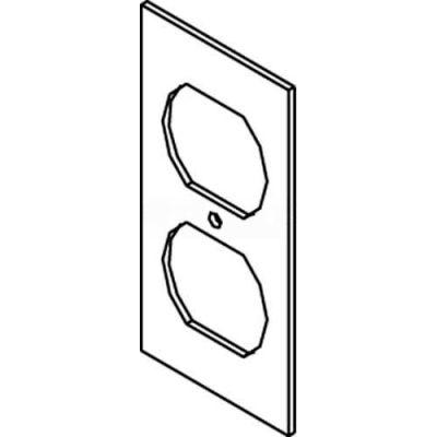 Wiremold Sgb-Dp Floor Box Af1&3 Bottom Plate, For (1) Duplex Device - Pkg Qty 25