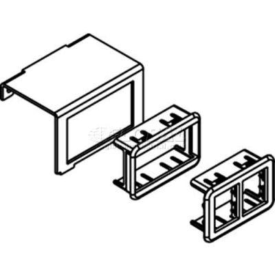 Wiremold SGC2-RT Floor Box 1-Gang Communication Plate Ortronics