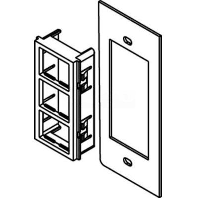 Wiremold Sgt-3tj Floor Box Af1 & Af3 Top Plate, For (3) Ortronics Tracjack Inserts - Pkg Qty 25