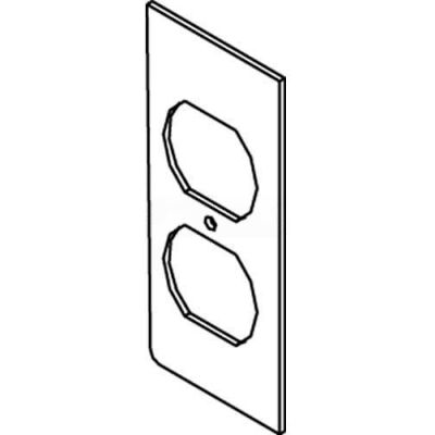 Wiremold Sgt-Dp Floor Box Af1&3 Top Plate, For (1) Duplex Device - Pkg Qty 25