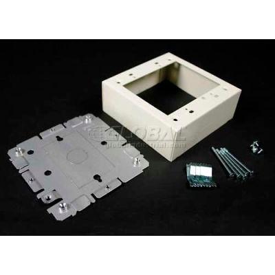 "Wiremold V2048-2 Switch & Receptacle Box, 2-Gang, 125V, 15A, 4-3/4""L"