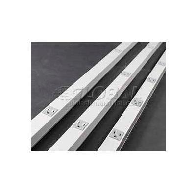 Wiremold V20GB18 Plugmold, 125V, 15A, 48'L, 8 Outlets