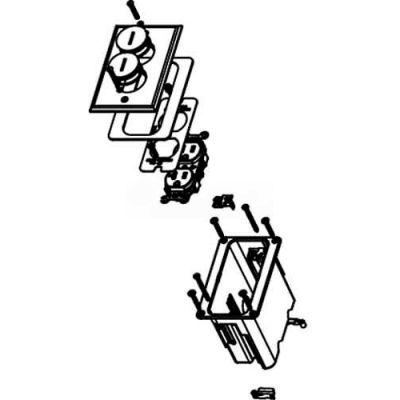 Wiremold WMFB1DRB Floor Box 1-Gang Box, One 15A Duplex Rec, Brass Cover