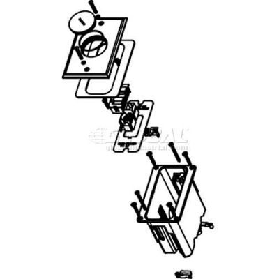 Wiremold WMFB1KS2B Floor Box 1-Gang Box Device Plate, Two Openings for Comm Devices, Brass Cover