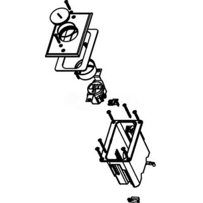 Wiremold WMFB1SRN Floor Box 1-Gang Box, One 15A Single Rec, Nickel Cover