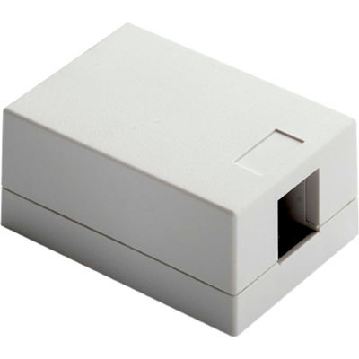 Legrand® WP3501-WH Surface Mount Box, 1-Port, White - Pkg Qty 10