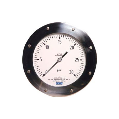 "6"" Type 732.26 150INH2Od Gauge - 1/4"" Female NPTx2 TBM Powder Aluminum"