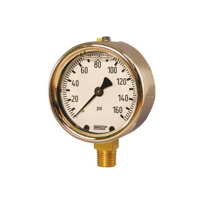 "2.5"" Type 213.40 60PSI/KPA Gauge - 1/4"" NPT LM Forged Brass"