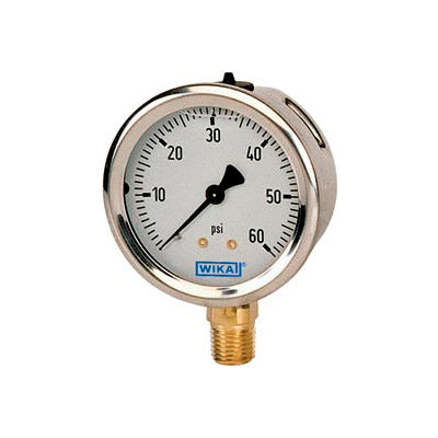 "2.5"" Type 213.53 300PSI/BAR Gauge - 1/4"" NPT LM Stainless Steel"